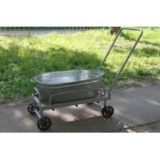 Тележка дворника 4-х колесная 760*460мм (колесо 160 мм),под ванну, колеса неповоротные,сплошная плат
