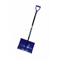 Лопата снегоуборочная 500ммх375мм пластмассовая 'МОНБЛАН' с черенком эргоночичным и V-ручкой