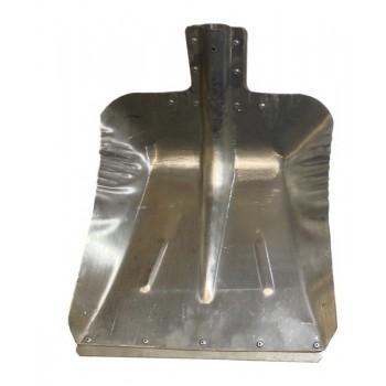 Лопата снегоуборочная 380ммх380мм ЛС №9 (алюминиевая 1,5мм/без планки/d:40)
