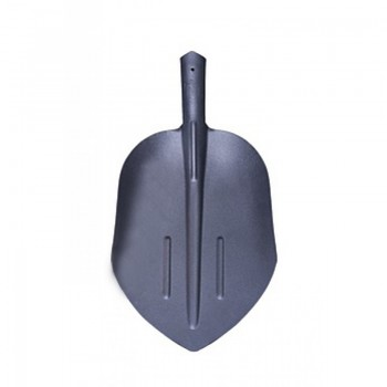 Лопата совковая щебеночная 'РЕЛЬСОВАЯ СТАЛЬ' усиленная с двумя ребрами жесткости