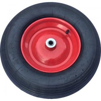 Колесо для тачки пневматическое 16'х4,00-8 большое для 1 колесной тачки (ось 16мм*95мм)