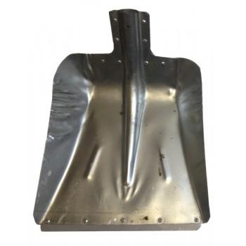 Лопата снегоуборочная 380ммх380мм ЛС №9 (оцинкованная 0,8мм/с планкой/d:40)