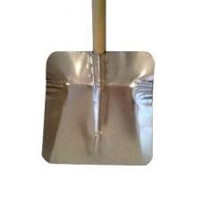 Лопата снегоуборочная 320ммх350мм ЛС №7 алюминиевая (без планки/с черенком)