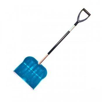 Лопата снегоуборочная 460ммх400мм (пластмассовая/с накладкой/d:30мм) в сборе №12