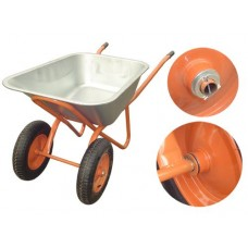 Тачка строительная 110л-300кг 2-колесная пневмо колесо без упора