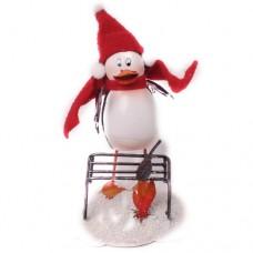 Фигурка декоративная новогодняя 'Пингвин-рыболов' 12.5см×11см×7см