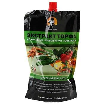 Удобрение для всех растений 'Питер Пит экстракт торфа' в пакете 500мл