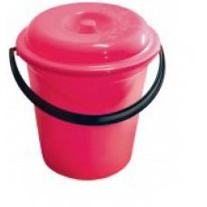 Ведро пластмассовое 8л 'Карлеоне' (пищевое) с крышкой (04108)