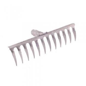Грабли 12 зубьев витые (нержавеющая сталь) с черенком