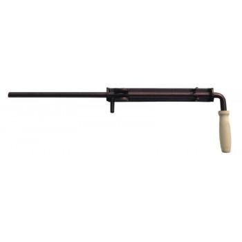 Засов гаражный 600 мм №15 разборный с деревянной ручкой 16мм (медь антик)