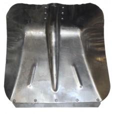 Лопата снегоуборочная 360ммх380мм (алюминиевая 1,5 мм/с планкой/d:40)