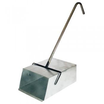 Совок для мусора оцинкованный большой с Г-обр ручкой