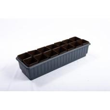 Ящик для рассады 'Дом и дача' на 14 стаканчиков черный