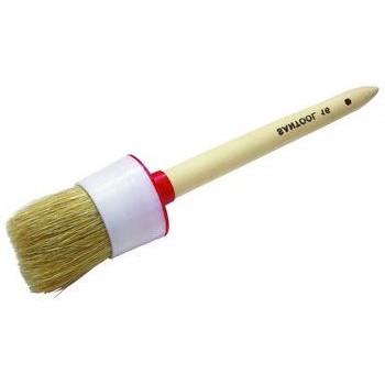 Кисть круглая № 4 (25мм) натуральная щетина с деревянной ручкой