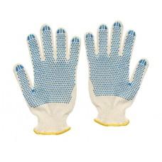 Перчатки с ПВХ 3-х нитка 10 кл. 'точка'