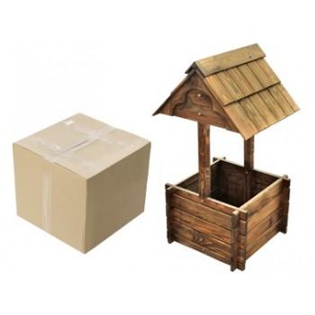Цветочница деревянная 'КОЛОДЕЦ эконом' 4-х гранный 600мм*510мм*1020мм