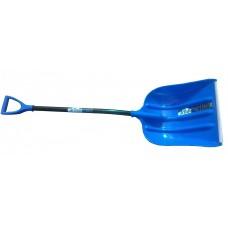 Лопата снегоуборочная 400ммх525мм пластмассовая 'ЭЛЬБРУС' с черенком эргономичным и V-ручкой