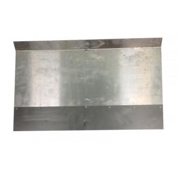 Движок однобортный 600ммх330мм алюминиевый с накладкой 12 см (нижнее крепление)