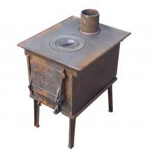 Печь чугунная малая ПЧМ 56 кг универсальная (дымоход в плите) Урал