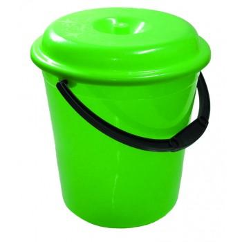 Ведро пластмассовое 12л 'Донна' (пищевое) с крышкой (04112)