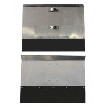 Движок однобортный 500х375 мм алюминиевый с накладкой 12 см, нижнее крепление с черенком