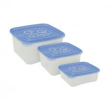 Контейнеры для пищевых продуктов, квадратные (набор: 0,4л; 0,7л; 1л)