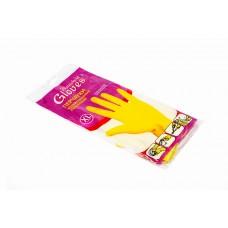 Перчатки резиновые хозяйственные (с х/б напылением) размер XL