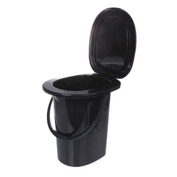 Ведро-туалет 16л 'Эконом' черный (М6355)