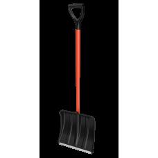 Лопата снегоуборочная 365ммх380мм пластмассовая 'Витязь' с мет.черенком в оплетке и V-ручкой(в сборе