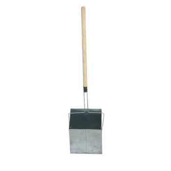 Совок-ловушка оцинкованный с деревянной ручкой без крышки