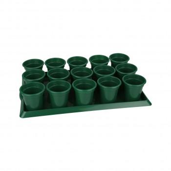 Ящик для рассады 15 горшков Классик (485мм×30мм×90мм) (М2592)