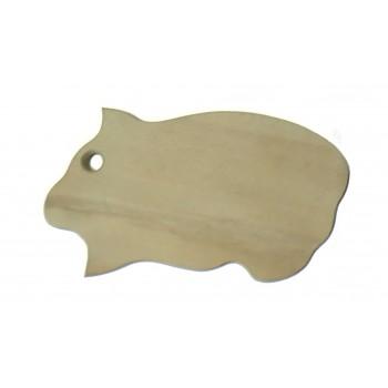 Доска разделочная деревянная 'Поросенок'