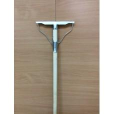 Швабра ленивка 'Люкс' 200ммх1200мм (тряпкодержатель) металл+ деревянный черенок
