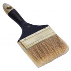 Кисть плоская 'Профи' 4' натуральная щетина, деревянная ручка