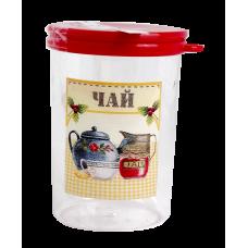 Емкость 'Ассорти' 1л для чая, h:15,5см, d:11см (М1717)