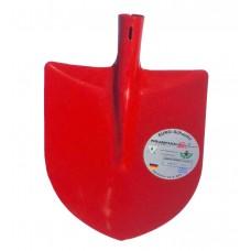 Лопата строительная 'Немецкая' А2 штыковая (порошковое покрытие (красная)/без черенка/мех)