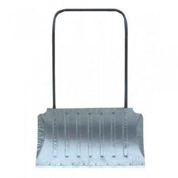 Движок с П-образной ручкой 750ммх330мм алюминиевый с накладкой, 6 ребер жесткости (формованный)