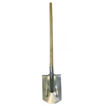 Лопата штыковая прямоугольная нержавеющая сталь с черенком (Павлово)