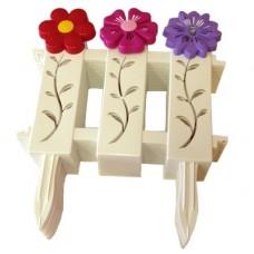 Забор декоративный 37смх31см (9 секции) 'Цветочный рай' (М4449)