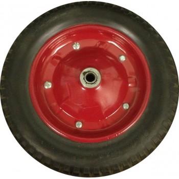 Колесо для тачки пенополиуретановое 13'х3,25-8 среднее (ось 16мм*91мм)