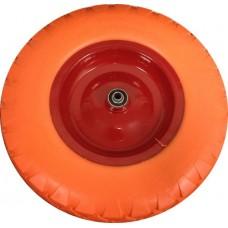 Колесо для тачки пенополиуретановое 16'х4,00-8  большое (ось 12мм*95мм)