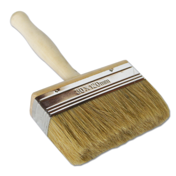 Кисть - макловица 100ммх30мм натуральная щетина с деревянной ручкой