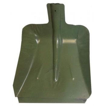 Лопата снегоуборочная 380ммх380мм ЛС №9 (стальная (мет) 0,8 мм/с планкой/d:40)