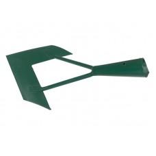Тяпка 110мм сталь скользящая 'Бумеранг-Мини' зеленая (самозаточная)