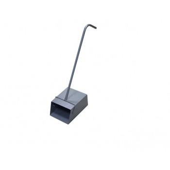 Совок-ловушка металлический с Г-обр. металлической ручкой (без крышки сверху)