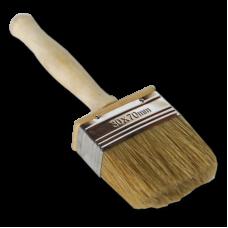 Кисть - макловица 70ммх30мм натуральная щетина с деревянной ручкой