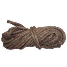 Веревка джутовая 10мм по 10м крученая
