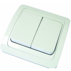 Выключатель 2-кл. СП 'Classic' 10А белый 2023 56915