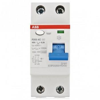 Выключатель диф.тока 2п 16А 10mA тип АС F202 ABB 2csf202001r0160