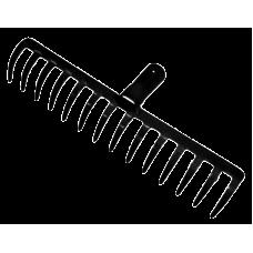 Грабли 16 зубьев прямые сварные